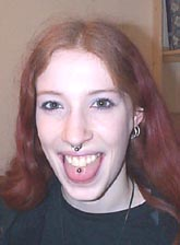 Jodie's facial piercings