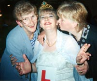 My mum, me and my sister.